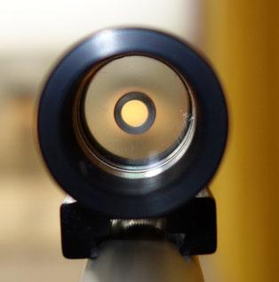 Ringkorn auf einer Feinwerkbau Druckluftwaffe