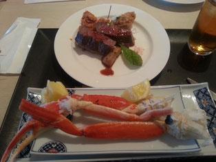 かに・ステーキ食べ放題(^^♪
