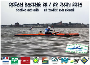 Surfski   -   Outrigger   -   Pirogue / Va'a   -   Compétition Nationale Ocean Racing en Baie de Somme