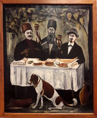 Géorgie gastronomie Pirosmani  banquet