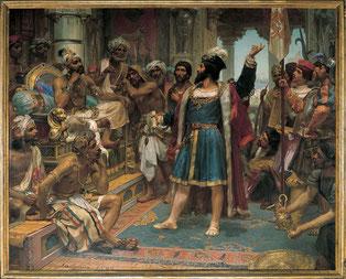 Vasco da Gama viene ricevuto da Samorin a Calicut