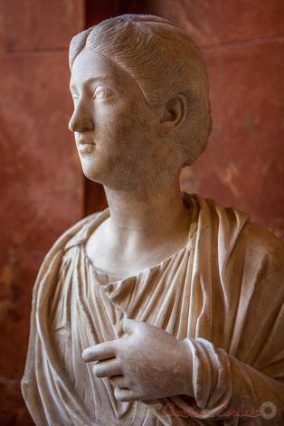 L'impératrice Crispine épouse Commode en 178, meurt en 187 après J.-C. , Musée du Louvre