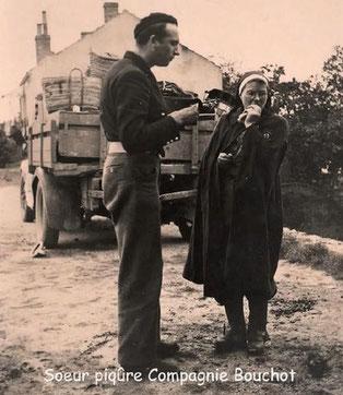- Pseudo PIQURE Fonction: Infirmière Nom Mademoiselle LAMBERT Lucie Caroline Emilie né le 26/04/1899 à Troyes (Aube) 45 ans sur la photo