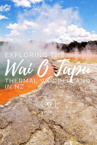 Experiencing New Zealand's Geothermal Acitivity in Wai-O-Tapu - one of Rotorua's most famous tourist attractions.