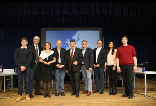 Panel Discussion at Bensheim school (Foto: Kevin Hasse)