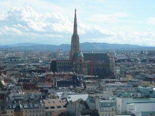 シュテファン大聖堂と旧市街地