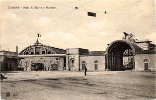 La stazione così come si presentava dopo il rifacimento di fine Ottocento