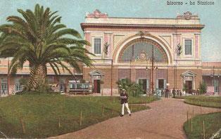 La Stazione Centrale in una cartolina d'epoca
