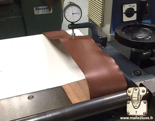 tranchage cuir malle vuitton goyard atelier malle2luxe