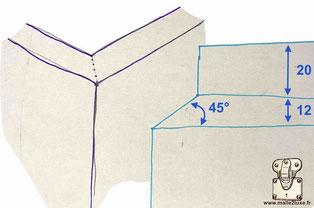 comment gainer du cuir sur une malle couper a 45°