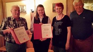 Von links: Josef Seehuber, Christine Commes, Vorsitzende Birgit Schmidl, Zweiter Bürgermeister Alfred Widmann