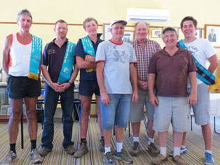L to R: Trevor Bussell, Doug Sutherland, Davey Jones, Daryl Hunt, Bill Eagle, David Jackel, Adam Shale.