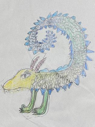 娘が描いた龍