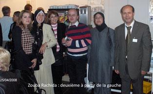 Zouba Rachida : deuxième à partir de la gauche