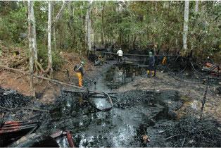 Exploración de hidrocarburos en la Amazonía. Foto (CC): Mongabay Latam