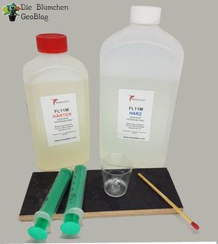 Vorbereitung des Epoxitharz für die Versiegelung