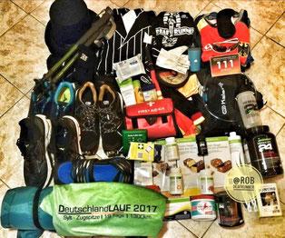 Es war unheimlich schwer für mich, die richtige passende Sachen für meine Etappenreise beim Deutschlandlauf 2019 mitzubringen...