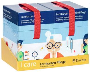 I care Lernkarten Pflege – Set (im Schuber)  Grundlagen, Pflegetechniken und therapeutische Pflegeaufgaben