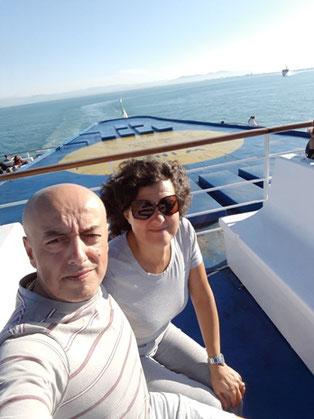 Selfie sul ponte del Moby Vincent