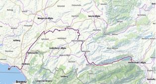 Von Lindau am Bodensee nach Immenstadt