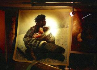 ein feine gemalte Mongolen-Szene