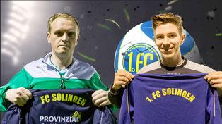 Alexander Grass und Vincenzo Hausmann verstärken den 1. FC sofort (Credit: Kollage / deutzmann.net)