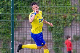 Benjamin Hakiri will auch im letzten Saisonspiel noch mal treffen und jubeln! (Foto: 1. FC Solingen Media Team)