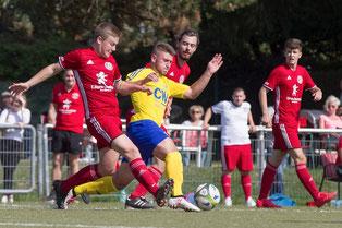 Dennis Dudek könnte beim Nachholspiel wegen seiner Beckenprellung ausfallen (Foto: 1. FC Solingen)