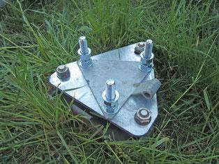 Adapterplatte für Fahnenmast