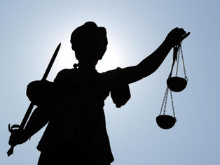 Die «Justitia», Göttin der Justiz und der Gerechtigkeit. Foto: Daniel Reinhardt