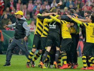 Jürgen Klopp beendet seine BVB-Amtszeit erst mit dem Finale in Berlin. Foto: Peter Kneffel