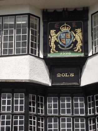 Pub, history, Exeter, Devon, England.