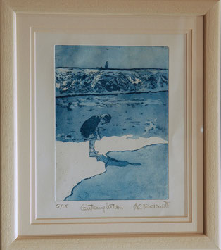 Contemplation - Etching with Aquatint by Anne Berendt
