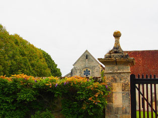 hinter dem Eingangstor präsentierte sich die Klosterkirche