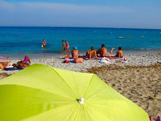 am Strand von Macinaggio