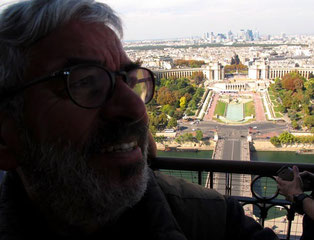 der Blick auf das Palais de Chaillot