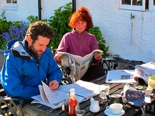 Peggy und Mark genossen die Abendsonne