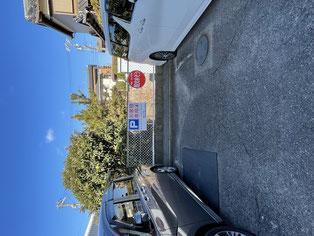 店舗うらの駐車スペース
