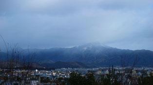 船岡山からの展望 比叡山