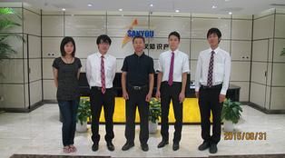 北京にて。海外インターンシップ生の受け入れてくださる企業を探す活動をしました。