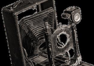 Alte Schrottkamera Merkur 9x12 aus der Bucht, Copyright Dr. Klaus Schörner
