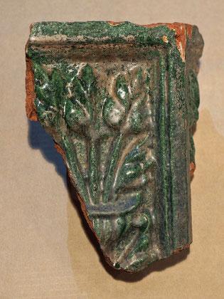 Bruchstück einer Ofenkachel - ca. 16. Jhdt. (vordere Burg)