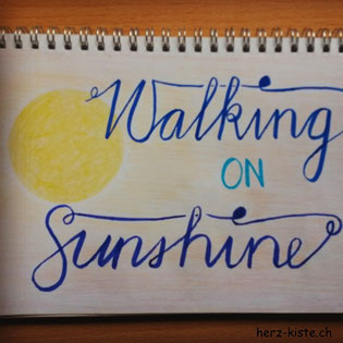 Letterattackchallenge: Walking on Sunshine - Handlettering