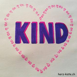 Letterattackchallenge: Be kind - Handlettering