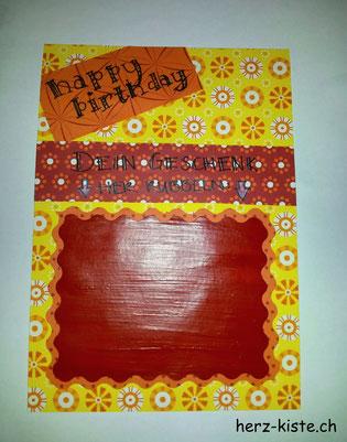 Geburtstagskarte mit Rubellos selbst gemacht
