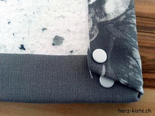 Fotohintergrund Stoff auf Sagexplatte gespannt Ecken festmachen