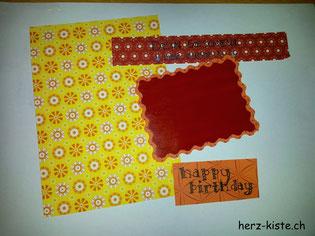 Material für Geburtstagskarte mit Rubellos