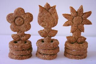 Pepernoot 3D koekjes bloemen