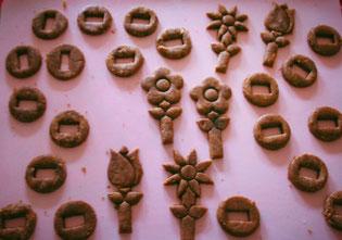 onderdelen 3D bloemetjes koekjes pepernoot