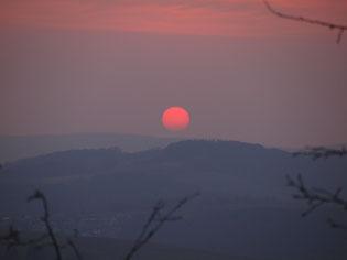Sonnenuntergang am Donnerstag...